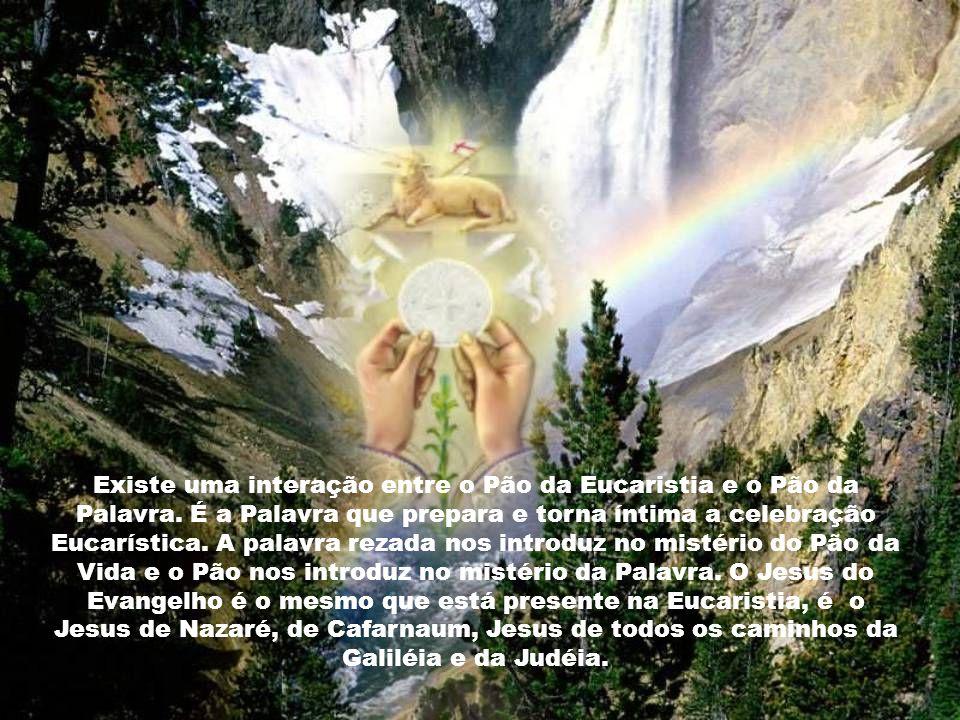 Oração: Senhor Jesus, inunde-me com sua alegria, alegria de seu Amor e me faça consciente de que pelo único Pão eu me uno a todos os cristãos do mundo