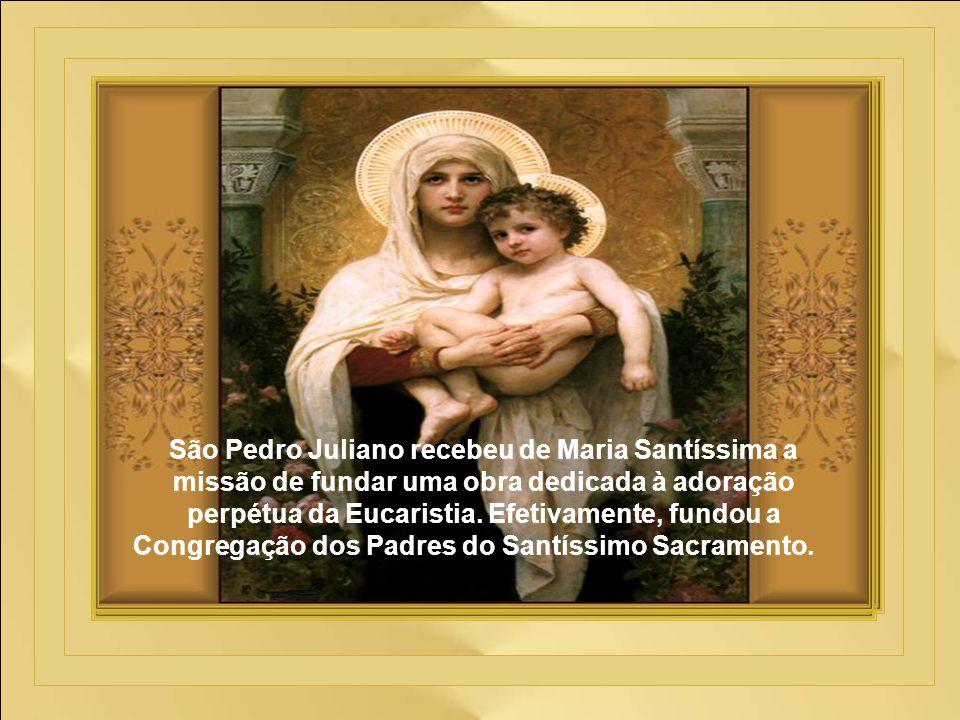 Um dia, quando falava sobre o Laus ao sentir-se diante de Nossa Senhora do Bom Socorro, ele se enlevou - estava a ver a Virgem Santa, verdadeiramente