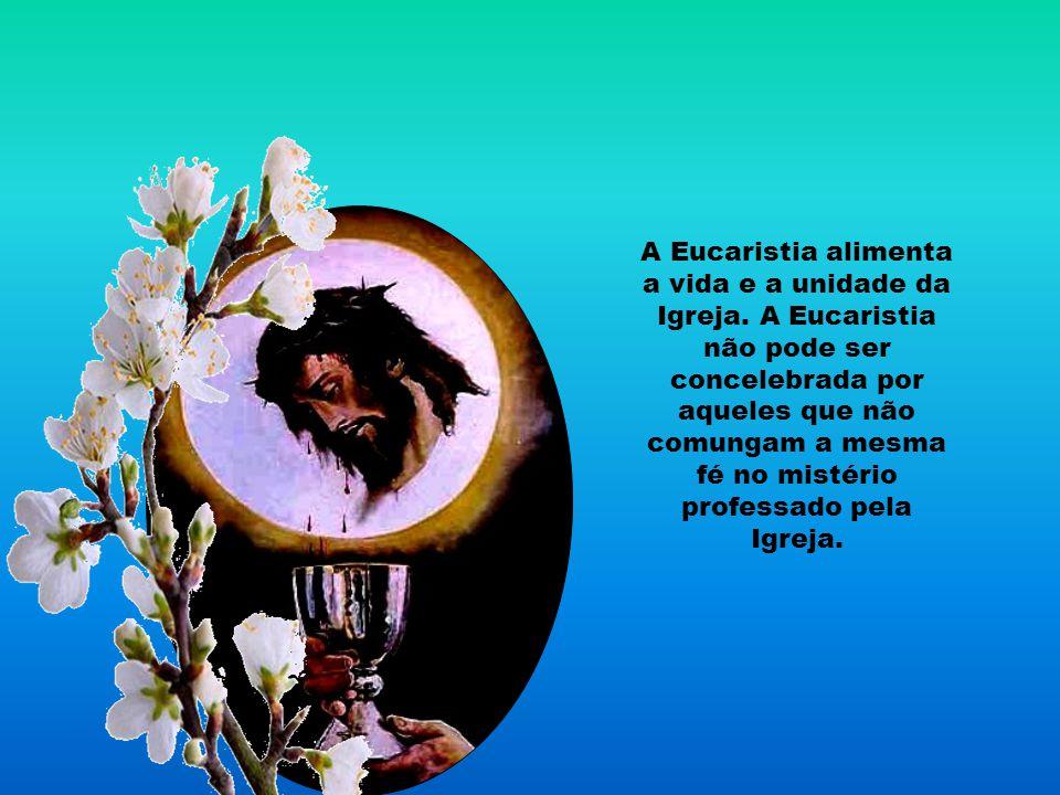 O sacrifício eucarístico é fonte e centro de toda a vida cristã. Na santíssima Eucaristia, está contido todo o tesouro espiritual da Igreja, isto é, o