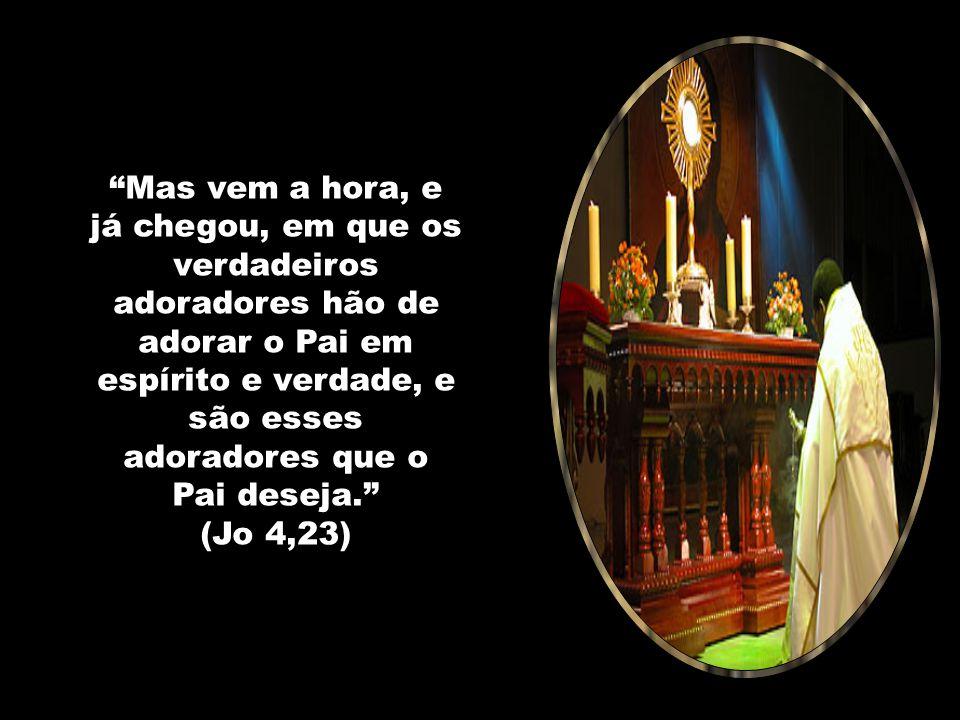 Nossa Senhora da Eucaristia, intercedei por nós para que possamos considerar a hora de adoração como uma hora celestial. Que possamos ir a ela como se
