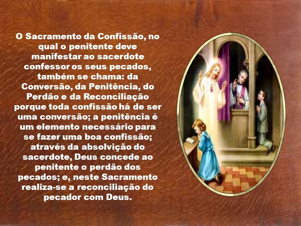 Caríssimos, A confissão é um canal de graça. É um verdadeiro e próprio sacramento de cura instituído por Jesus Cristo, por meio do qual, nas devidas c
