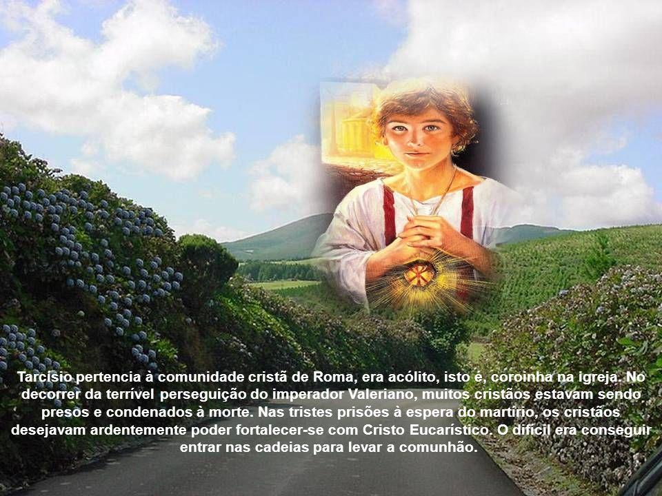 Bento XVI dedica catequese da audiência geral a São Tarcísio, patrono dos coroinhas 04/08/20010 Acompanhava o Papa na audiência geral o secretário de Estado, Cardeal Tarcisio Bertone, que leva o nome do santo homenageado.