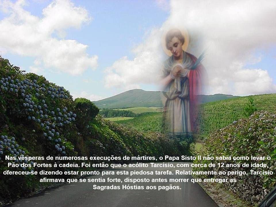 Nas vésperas de numerosas execuções de mártires, o Papa Sisto II não sabia como levar o Pão dos Fortes à cadeia.