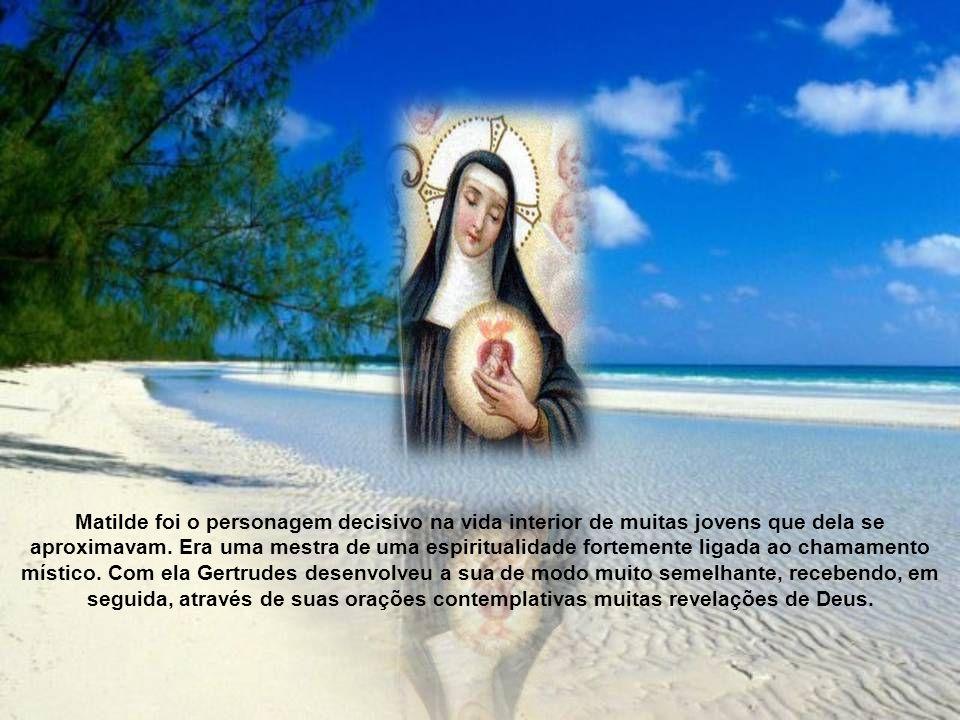 Possuidora de grande carisma místico tornou-se religiosa consagrada. Conviveu no mosteiro com a grande mística Matilde de Magdeburgo, mestra de espiri