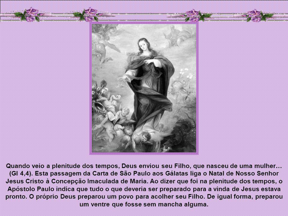 Quando veio a plenitude dos tempos, Deus enviou seu Filho, que nasceu de uma mulher… (Gl 4,4).