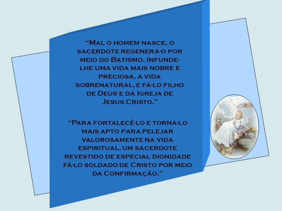 Todos os poderes que deu Cristo à sua Igreja, confiou- os ao sacerdócio.