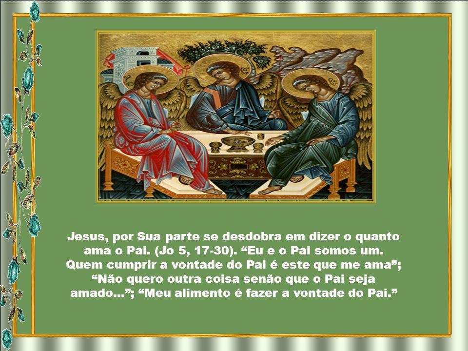 O Pai se dá a conhecer, de modo todo particular, na apresentação de Seu Filho amado, Jesus: Falava Ele ainda, quando veio uma nuvem luminosa e os envo