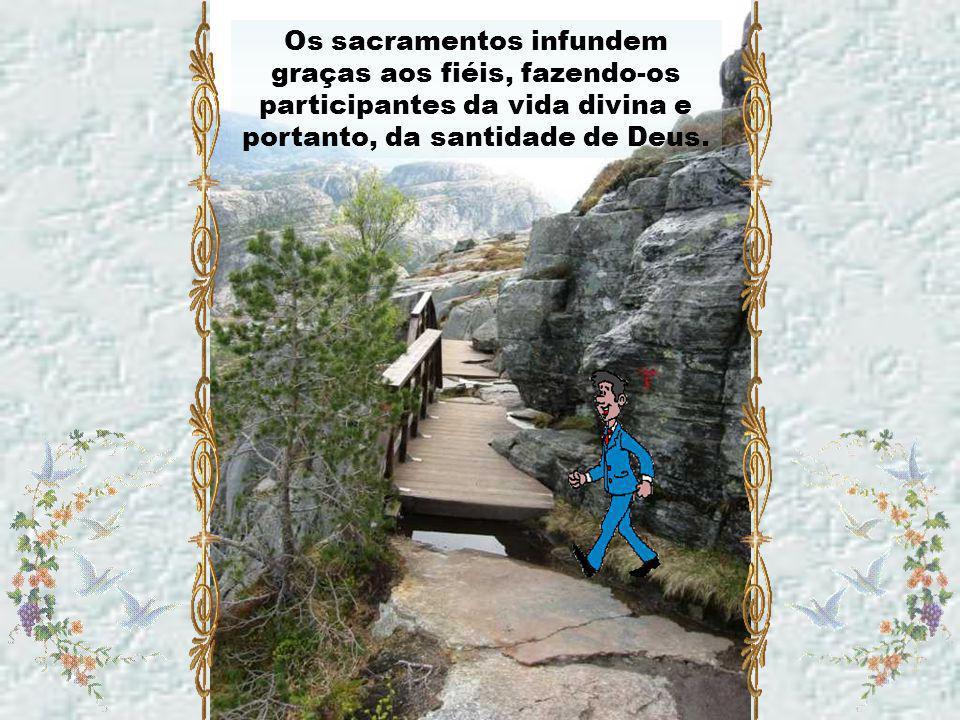 Caríssimos, Nosso Senhor instituiu os sacramentos (sinais eficazes da graça) de tal forma que eles nos acompanham nas etapas mais importantes da nossa