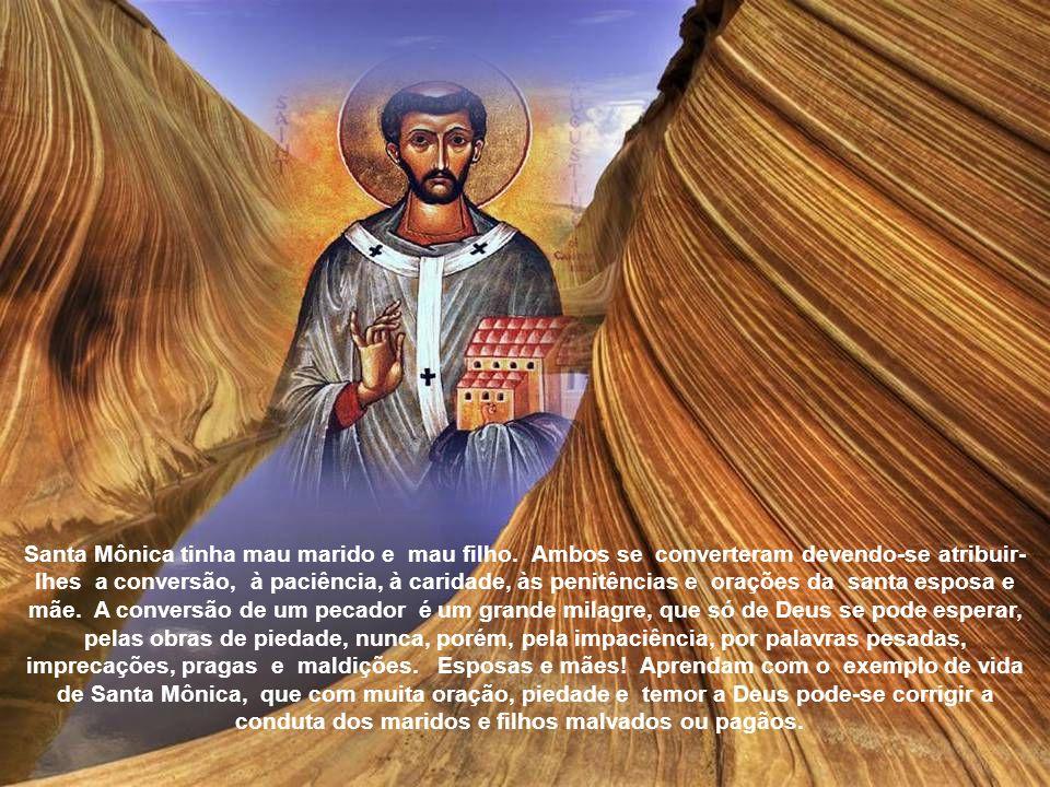 O Papa Alexandre III colocou o nome de Santa Mônica entre Santos da Igreja Católica. Sob o pontificado de Martinho V (1430) foi o corpo de Santa Mônic