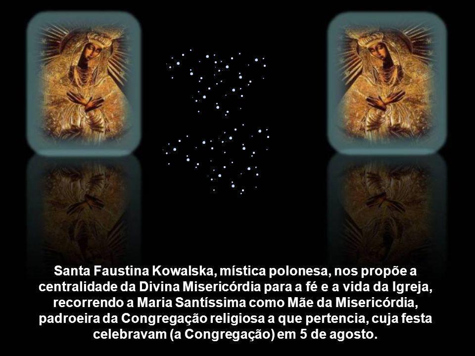 Existe uma íntima relação entre Maria Santíssima, a Mãe de Jesus, o mistério da misericórdia divina e a prática da misericórdia. Maria está desde a su