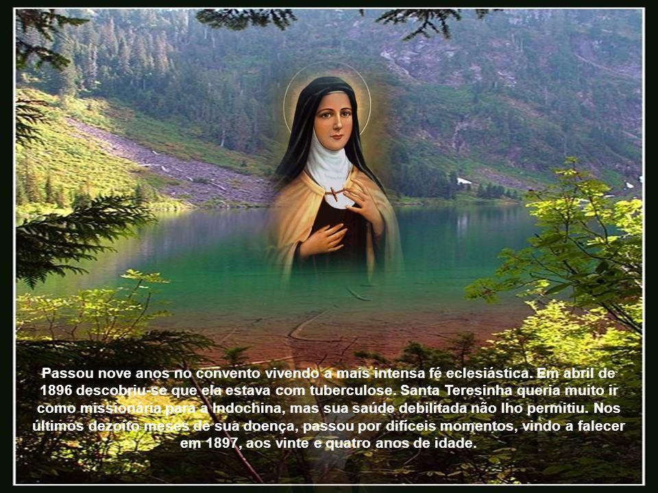 Passou nove anos no convento vivendo a mais intensa fé eclesiástica.