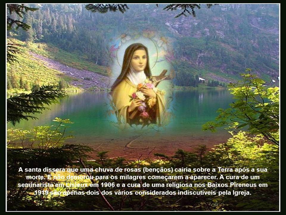 A santa dissera que uma chuva de rosas (bençãos) cairia sobre a Terra após a sua morte.