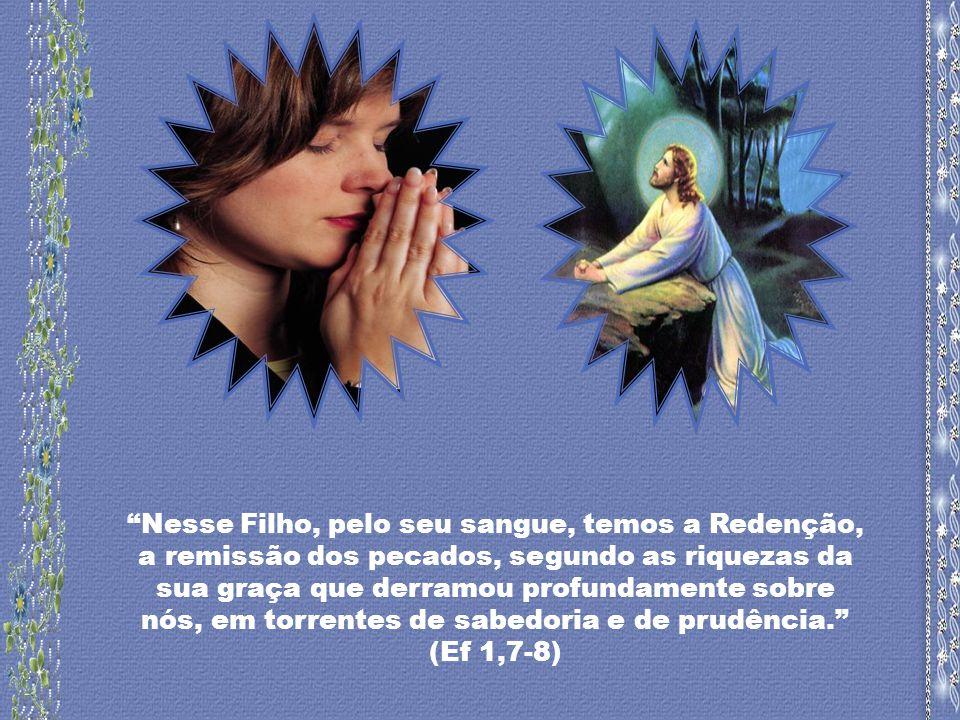 Nesse Filho, pelo seu sangue, temos a Redenção, a remissão dos pecados, segundo as riquezas da sua graça que derramou profundamente sobre nós, em torrentes de sabedoria e de prudência.