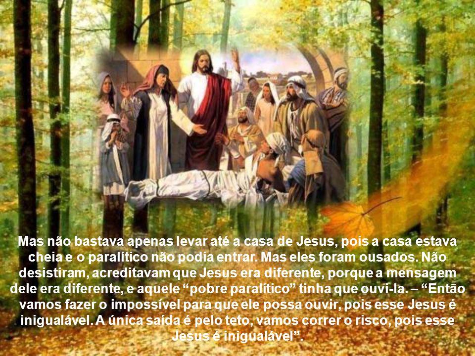 Independente dos motivos, Jesus simplesmente os recebe, com sua simplicidade esmagadora, e apenas fala sobre o Reino de Deus. Então entra o miserável