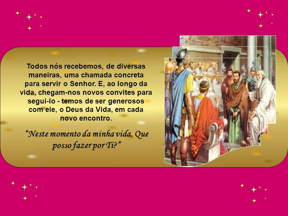 Como Paulo, servo de Jesus, apóstolo por vocação, escolhido para o Evangelho de Deus, coloquemos toda a nossa força a espalhar a Boa Nova, sem importa