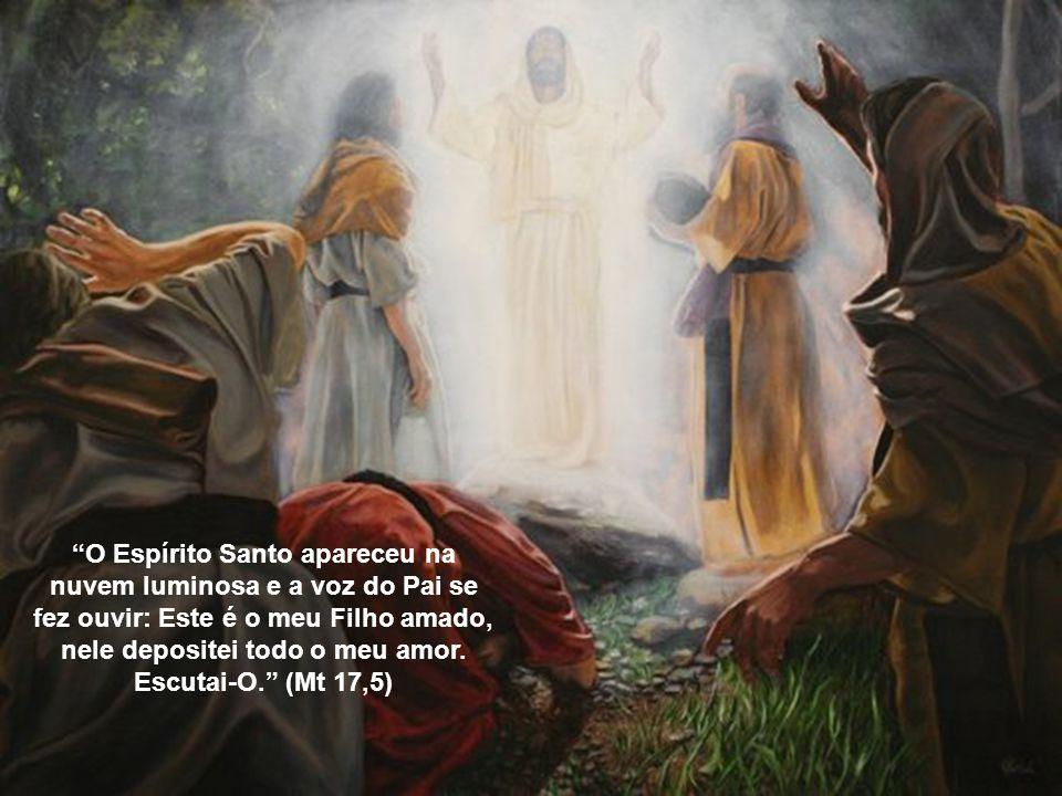 Caríssimos, Hoje, dia 06 de agosto, a Igreja celebra a Transfiguração de Jesus, no Monte Tabor. Jesus se manifesta aos seus discípulos com todo o espl
