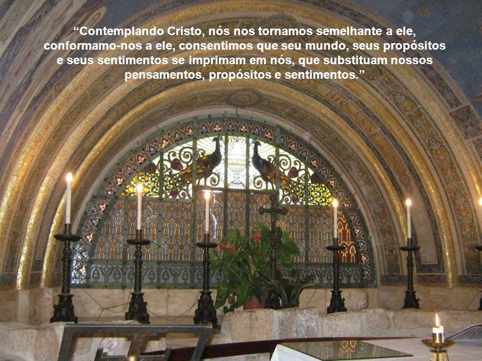 No Tabor prenunciaram-se os mistérios da crucifixão, revelou-se a beleza do Reino e manifestou-se a segunda descida e vinda gloriosa de Cristo... Foi