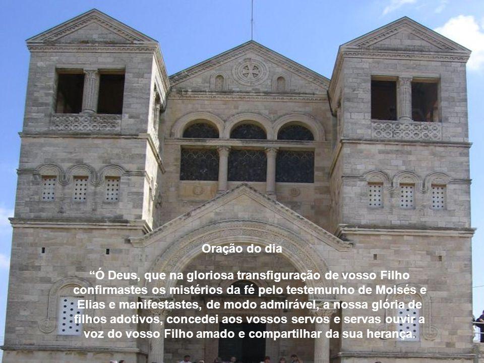 No monte santo, os apóstolos foram expectadores e testemunhas oculares da grandeza de Jesus, por isso refletiam e transformaram-se na imagem do própri