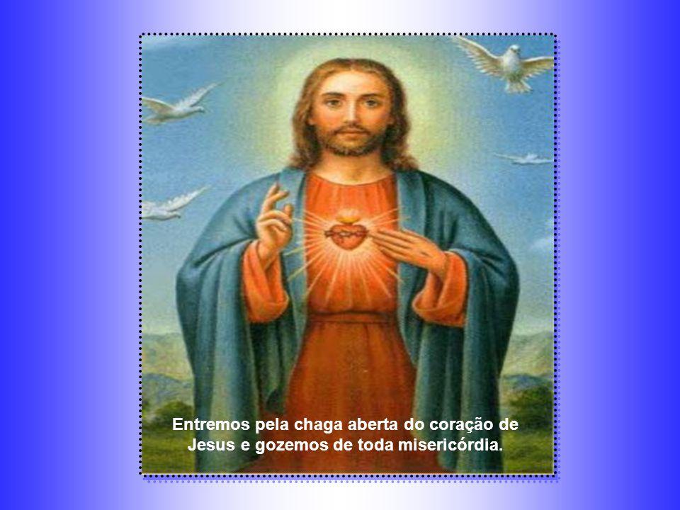 Entremos pela chaga aberta do coração de Jesus e gozemos de toda misericórdia.