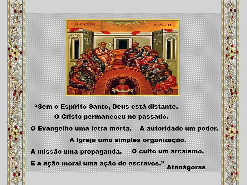 Toda a nossa vida de cristãos está sob o sinal do Espírito que recebemos no batismo e na crisma, nosso Pentecostes; nela devemos amadurecer os frutos