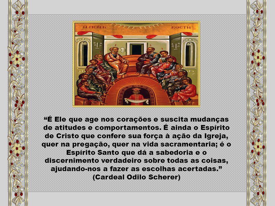 O Espírito Santo se faz oração em nós, reza conosco, envolve-nos no mistério de uma súplica ao Pai.