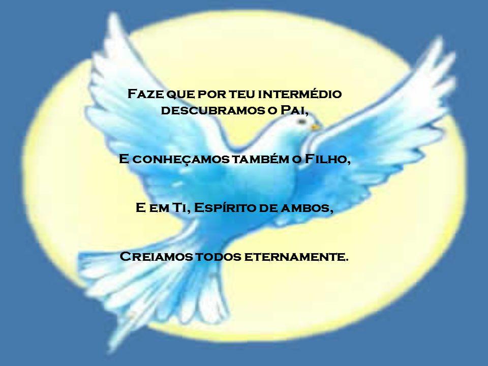 Para longe repele o inimigo E a paz nos dá sem demora. E assim por ti conduzidos, Evitaremos todo o mal.