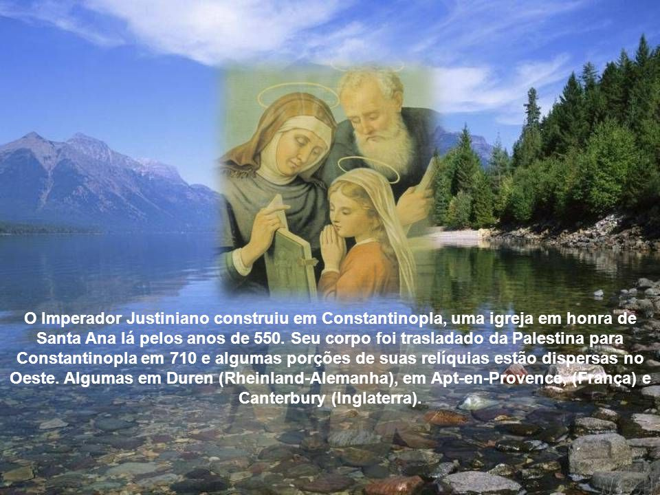 Maria ao nascer no dia 08 de setembro de um ano desconhecido, não só tirou dos ombros dos pais o peso de uma vida estéril, mas ainda recompensou-os pela fé, ao ser escolhida no futuro para ser a Mãe do Filho de Deus.