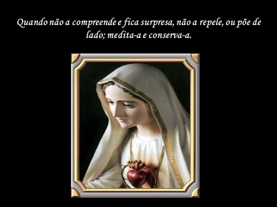 Maria é a discípula perfeita que se abre à palavra e se deixa penetrar por seu dinamismo.