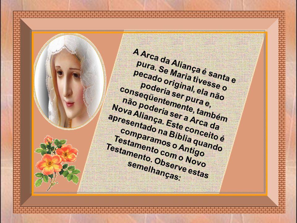 A Arca da Antiga Aliança abrigava os Dez Mandamentos, que eram a Palavra de Deus. Na Bíblia, São João chama também Jesus de Palavra (=Verbo) de Deus e