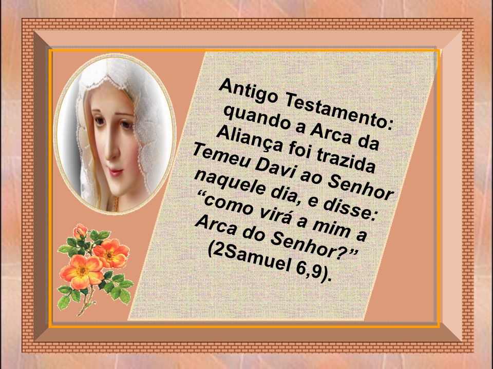 A Arca da Aliança é santa e pura. Se Maria tivesse o pecado original, ela não poderia ser pura e, conseqüentemente, também não poderia ser a Arca da N