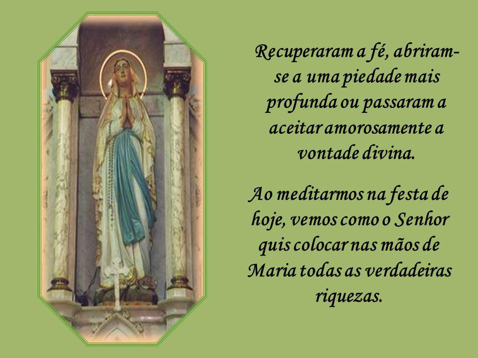 Ocorreram em Lourdes muitos prodígios nos corpos e muitos mais nas almas. Foram incontáveis as curas, e muitos mais os que regressaram curados das dif
