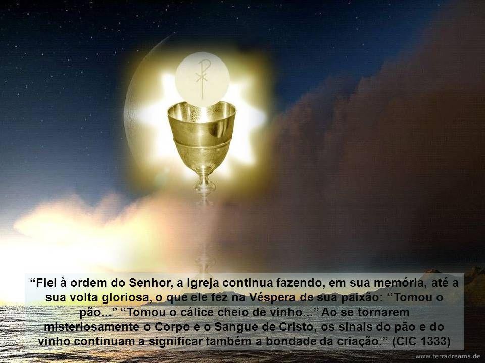 A presença do verdadeiro Corpo de Cristo e do verdadeiro Sangue de Cristo, no Sacramento da Eucaristia, não se pode descobrir só pelos sentidos, mas s
