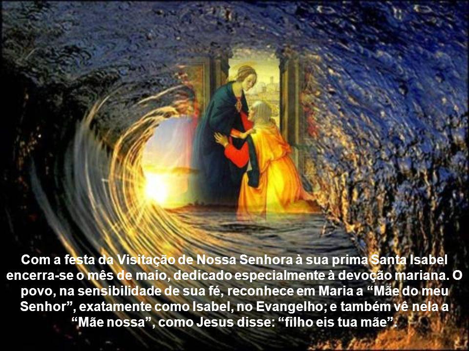 Minha alma glorifica ao Senhor, meu espírito exulta de alegria em Deus, meu Salvador, porque olhou para sua pobre serva.