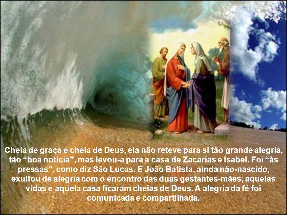 Com a festa da Visitação de Nossa Senhora à sua prima Santa Isabel encerra-se o mês de maio, dedicado especialmente à devoção mariana. O povo, na sens