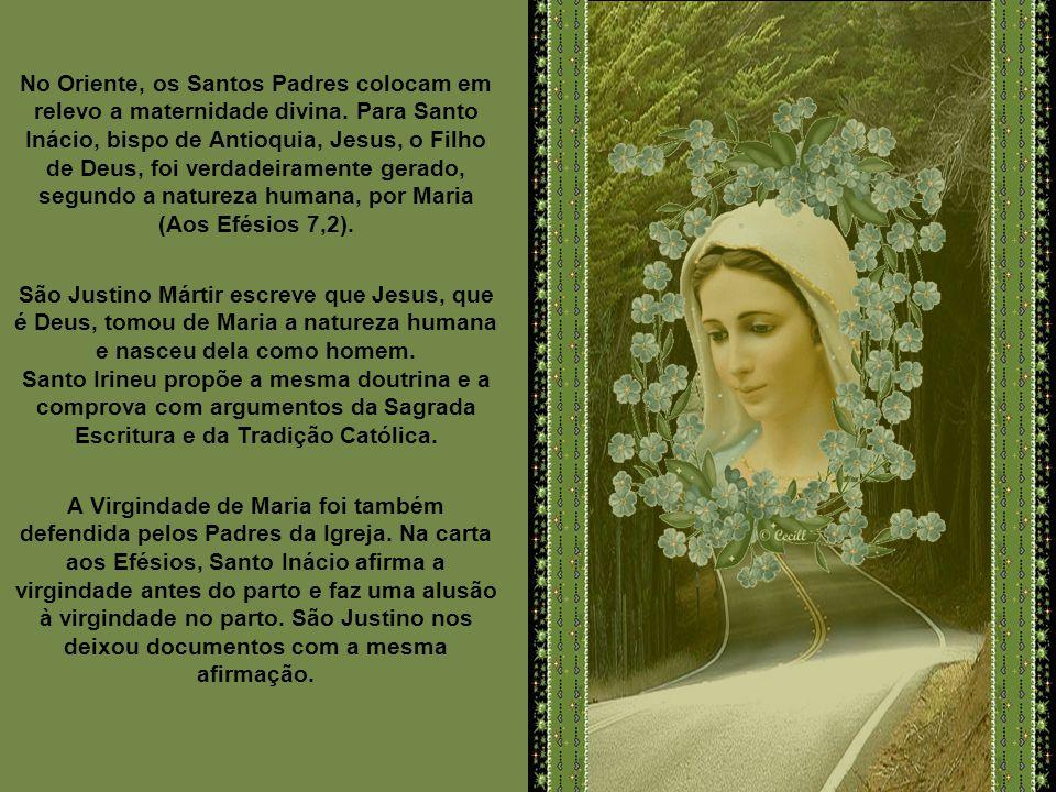 A princípio Maria ocupa lugar modesto e pouco se fala dela. Não obstante, as afirmações dogmáticas da Santíssima Virgem se encontram desde os primeiro