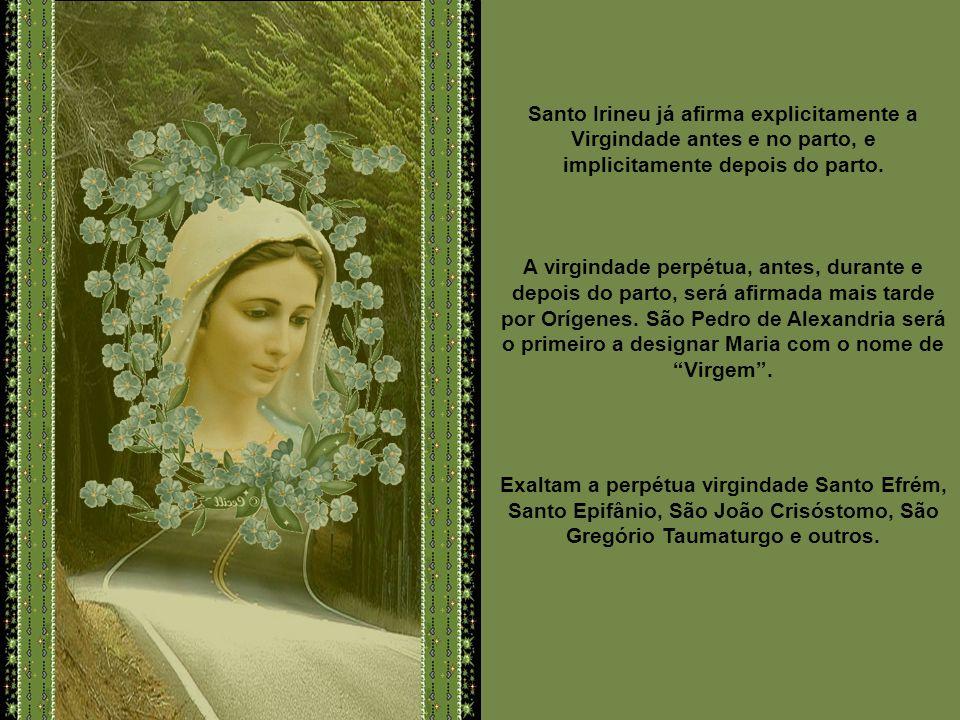 No Oriente, os Santos Padres colocam em relevo a maternidade divina. Para Santo Inácio, bispo de Antioquia, Jesus, o Filho de Deus, foi verdadeirament