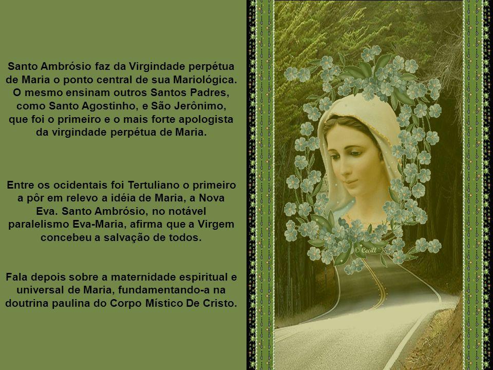 São Gregório invoca a Maria e afirma que por sua intercessão recebera a verdadeira doutrina da fé sobre a Santíssima Trindade. Este fato pareceu tão n