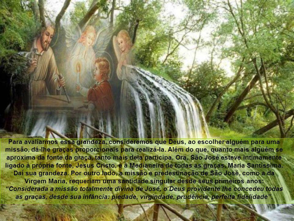 A respeito de São José, encontramos poucos dados nos Evangelhos, como também os sagrados evangelistas nos dizem poucas coisas da Virgem, mas compendiaram todas suas glórias em um só título ao chamá-la Mãe de Deus de quem nasceu Jesus.
