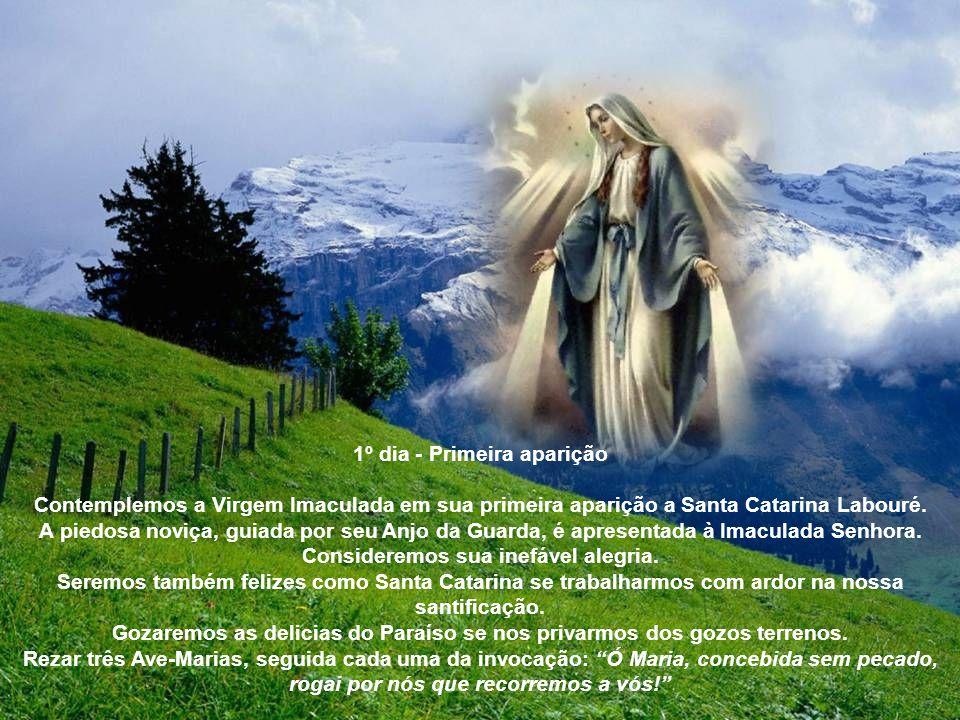 Novena da Medalha Milagrosa Sinal da cruz Ato de contrição Senhor meu, Jesus Cristo, Deus e Homem verdadeiro, Criador e Redentor meu. Por serdes Vós q