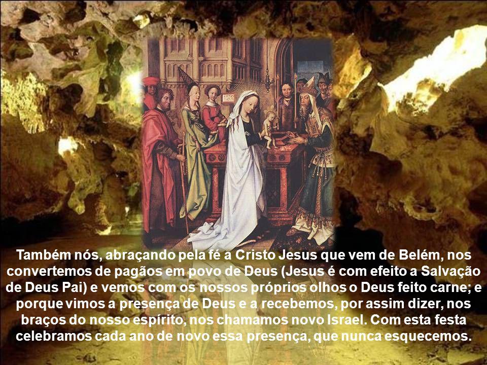 A salvação de Deus, com efeito, preparada diante de todos os povos, manifestou a glória que nos pertence a nós, que somos o novo Israel; e nós próprio