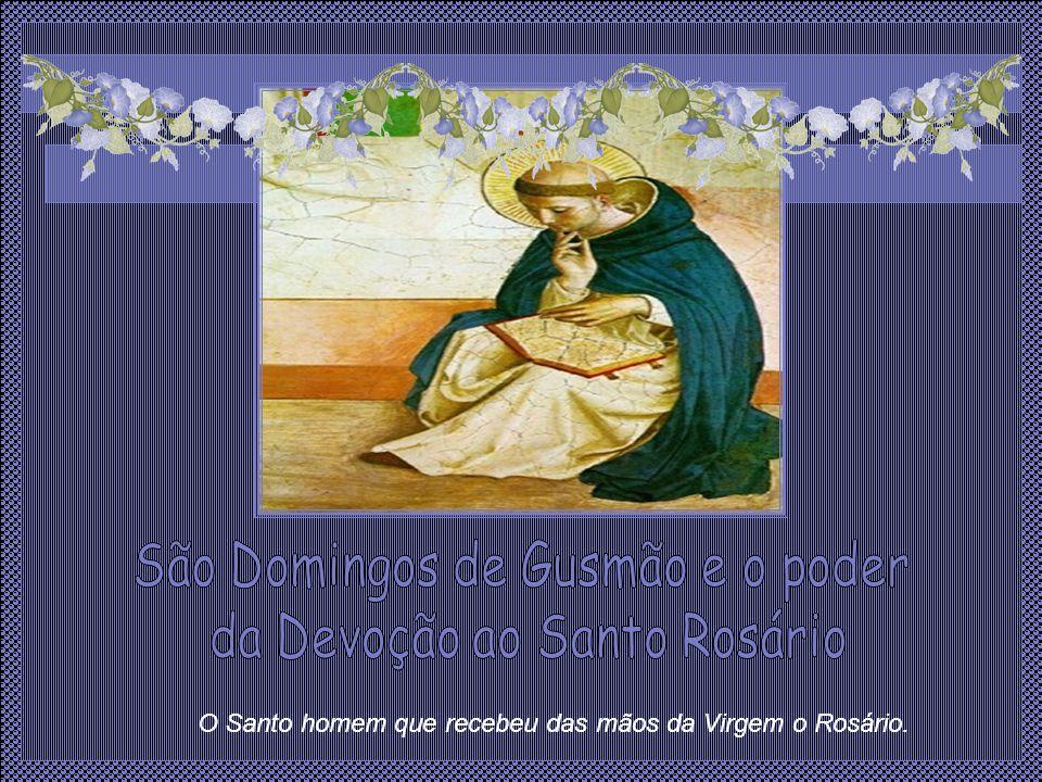 São Domingos estava na capela do convento das monjas do primeiro mosteiro da Ordem Dominicana rezando pela redenção das almas.