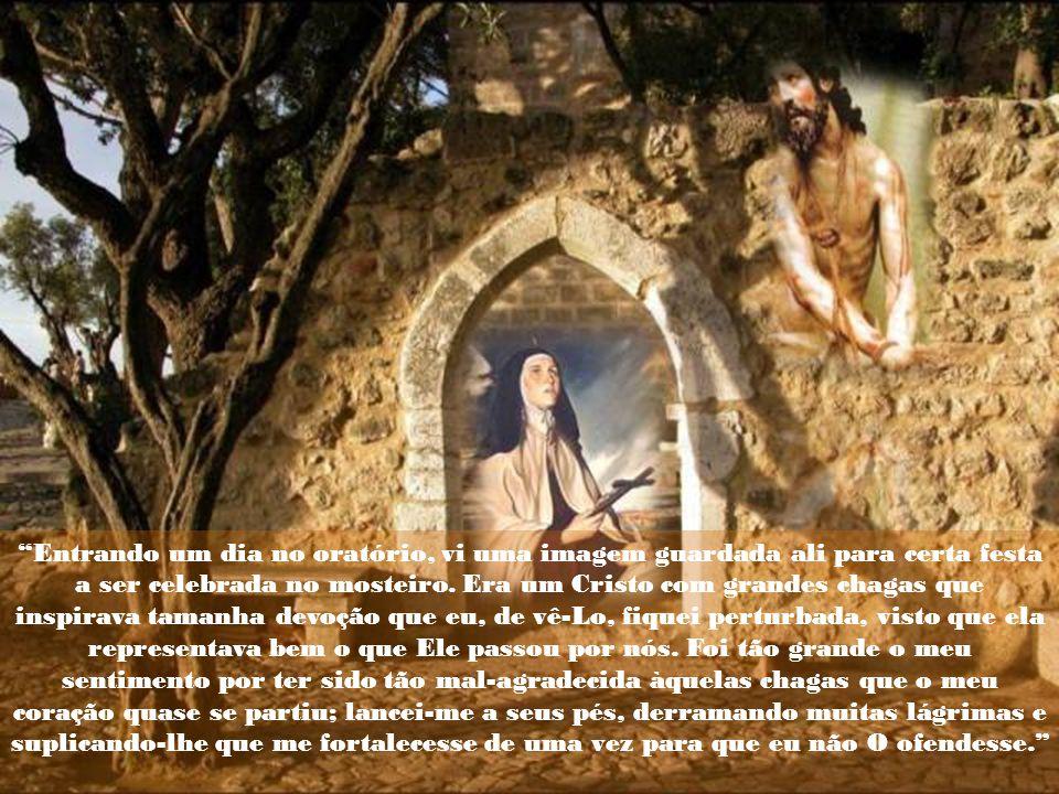 Entrando um dia no oratório, vi uma imagem guardada ali para certa festa a ser celebrada no mosteiro.