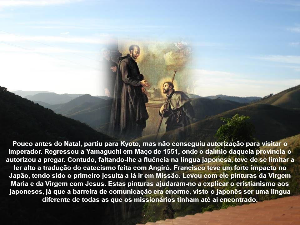 Partiu de Goa a 15 de Abril de 1549, parou em Malaca e visitou Cantão, na China. Foi acompanhado por Angiró, pelo padre Cosme Torres, pelo irmão João