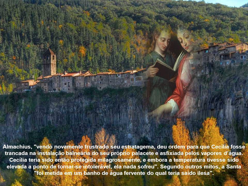 A Cecília respondeu-lhe que os sabia bem guardados, sem deixar perceber ao tirano que já tinham achado o destino nas mãos dos pobres.