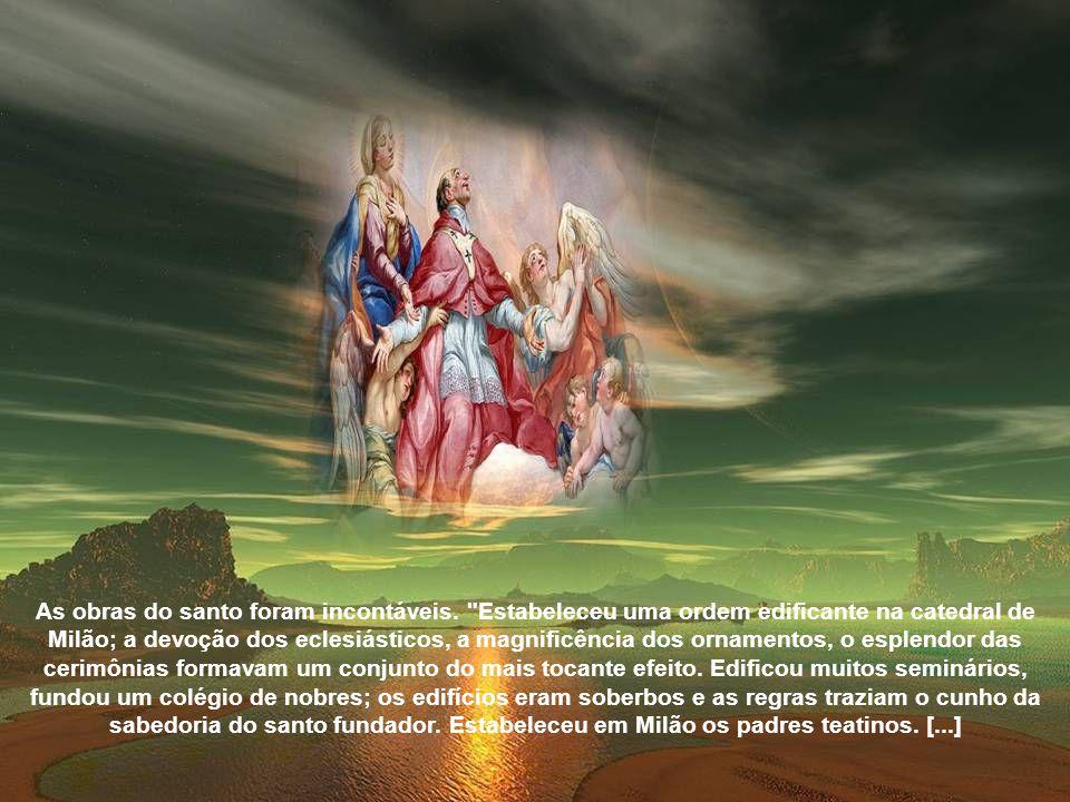 Autêntica reforma na diocese de Milão Chegando a Milão, o Cardeal Borromeu, seguindo a orientação do Concílio, começou a reforma do clero.