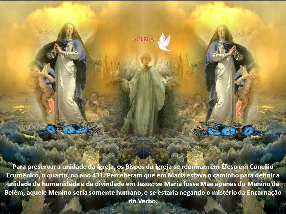 Ela é Mãe de Deus porque Puríssima e Santíssima, é Santíssima por ser a Mãe de Deus. Quando em meio às controvérsias doutrinais do século V se discuti