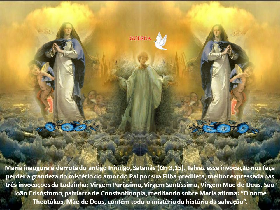 Maria inaugura a derrota do antigo Inimigo, Satanás (Gn 3,15).
