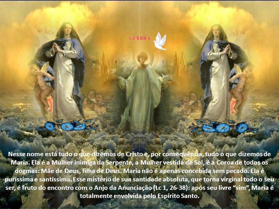 Maria inaugura a derrota do antigo Inimigo, Satanás (Gn 3,15). Talvez essa invocação nos faça perder a grandeza do mistério do amor do Pai por sua Fil