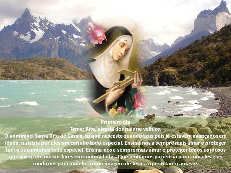 Novena. Fazer o sinal da cruz;. Rezar o tema de cada dia;. Rezar 1 Pai Nosso; 10 Ave-Marias e 1 Glória ao Pai;. Fazer a oração final todos os dias: De