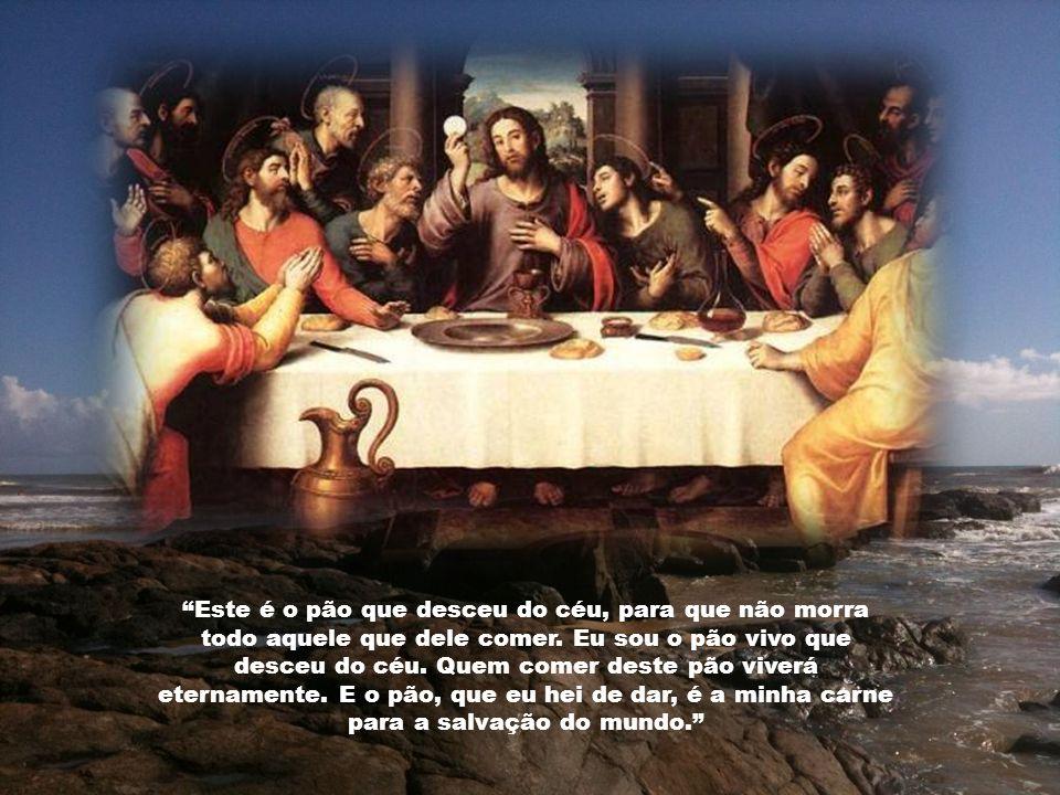 A confirmação da presença real de Jesus na Eucaristia, encontra-se de um modo evidente no discurso do pão da vida (Evangelho de São João 6, 22-59) e n